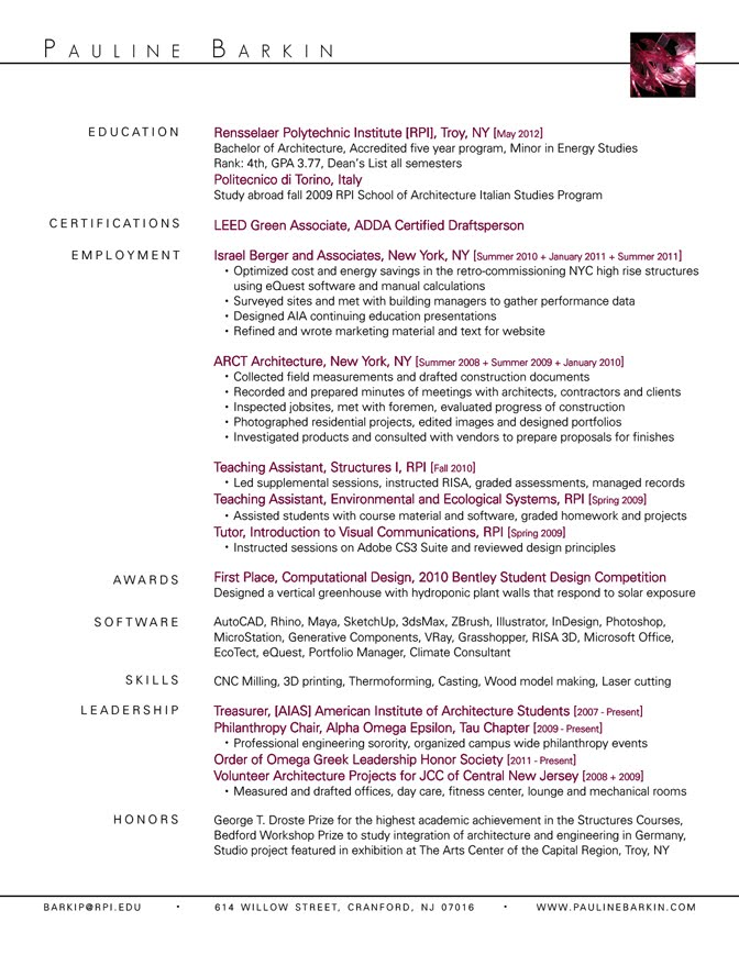 Barback Resume Sample